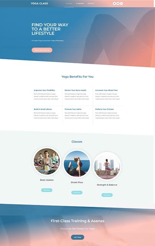 modèle site yoga